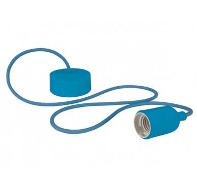 Luminaire design à suspension en cordage – Bleu