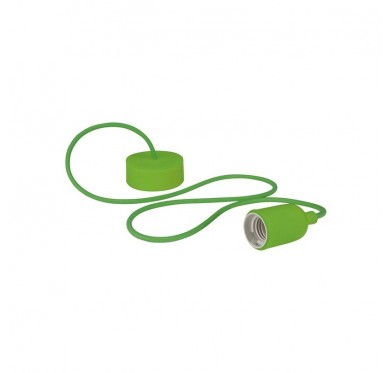 Luminaire design à suspension en cordage – Vert