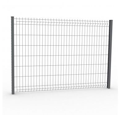 Panneau de clôture rigide H1,23 x L2,5 m, gris