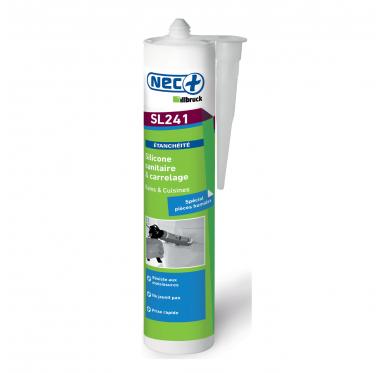 Silicone sanitaire et carrelage pour bains et cuisines Blanc 310 ML