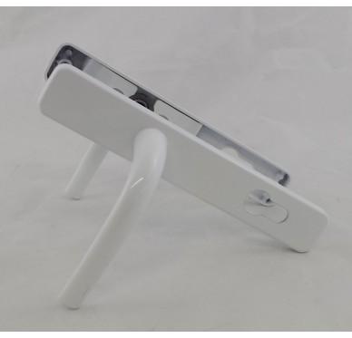 Poignée pour porte d'entrée en PVC blanc entraxe 192 mm