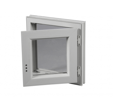 Fenêtre PVC Gamme E.PRO 1 vantail tirant droit H 125 x L 80 cm