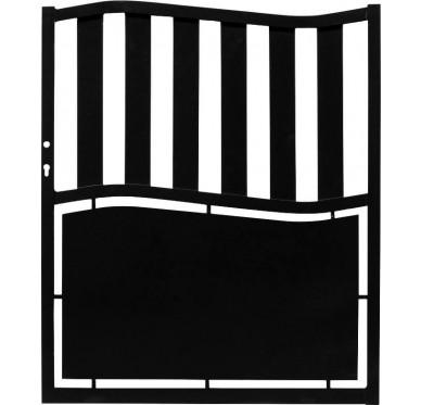 Portillon noir en aluminium modèle Ardèche H120 x L100 cm