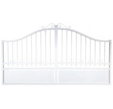 Portail blanc en aluminium modèle Jade H120 x L300 cm