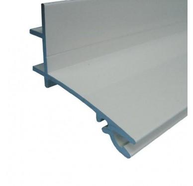 Profil Faîtière Supérieur avec Joint Aluminium 3M Blanc
