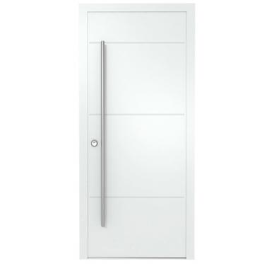 Porte d'entrée en ALUMINIUM  215 X 090 cm
