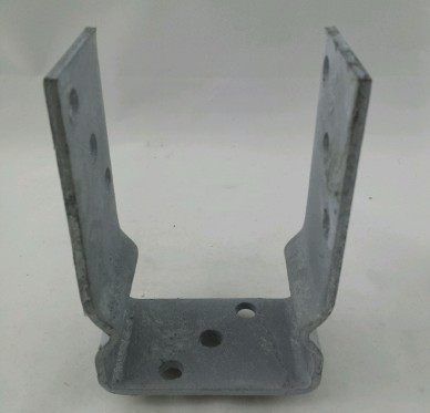 Support de poteau à vis 91 mm Galvanisé