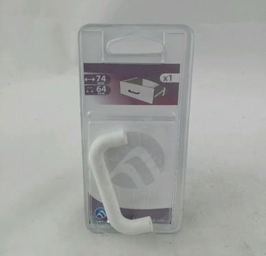 Poignée fil Matière plastique blanc L.74mm L.10mm P.28mm Entraxe 64mm