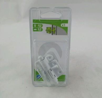 Targette de porte à visser sur la porte 35mm à pêne rond L62xH42xP15mm