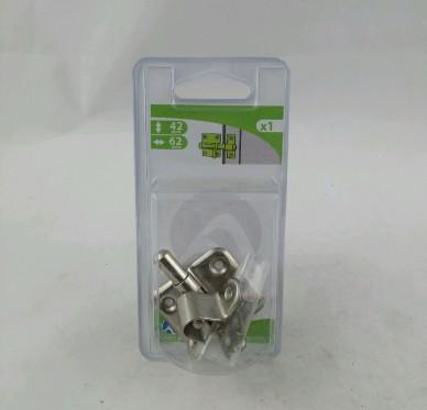 Targette de porte à visser sur la porte 40mm à pêne rond L62xH42xP15 mm