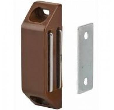 Loqueteau magnétique rectangulaire à pattes, force 2kg, acier brun