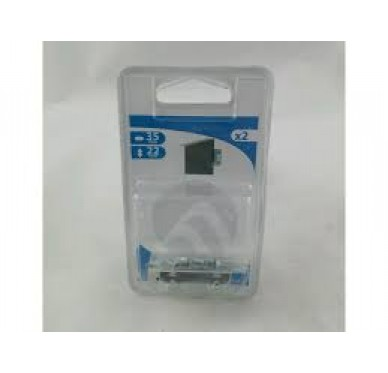Charnière rectangulaire simple feuille, pour vis Ø2 mm, L22xH38xEp0,8mm