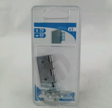 Charnière rectangulaire simple feuille, L40xH70mm