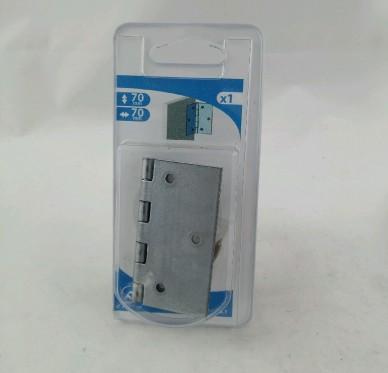 Charnière carrée, pour vis Ø3 mm, L70xH70xEp1.2mm