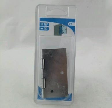 Charnière carrée, pour vis Ø4 mm, L80xH80xEp1.2mm
