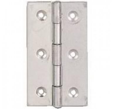 Charnière rectangulaire simple feuille, pour vis Ø3 mm, L35xH60xEp1mm