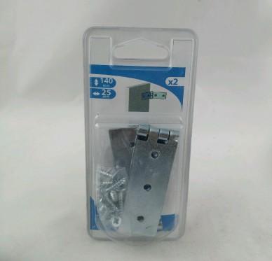 Charnière large dite de coulisse de lit, pour vis Ø4 mm, L140xH25xEp1.5mm