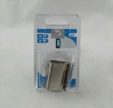 Charnière coudée pour porte épaisseur 19 mm