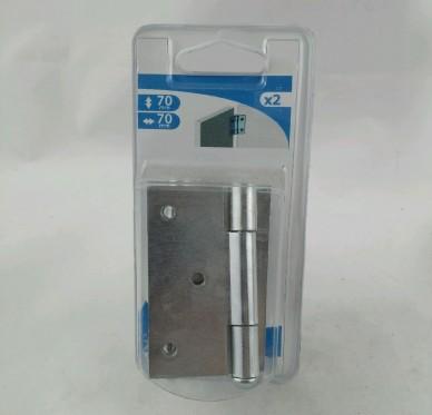 Charnière carrée dégondable, L70xH70xEp2mm