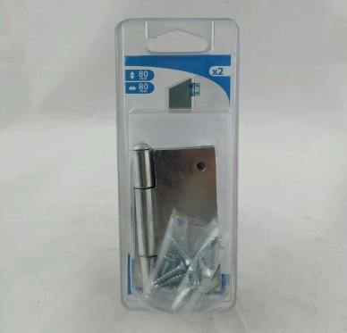 Charnière carrée dégondable, L80xH80xEpx2.5mm