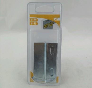 Attache de suspension, profil 'Z' L76 H47 P6.5 Ep 2 mm Acier zingué