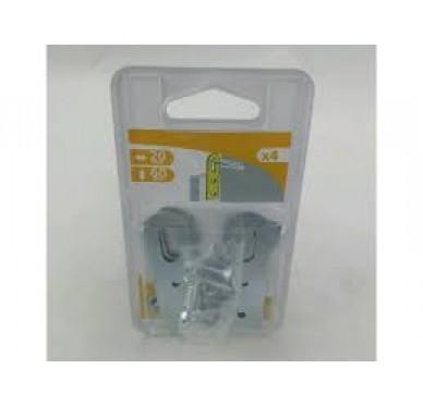 Attache de suspension, L20xH60xEp1.2 mm