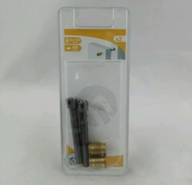Assembleur, vis de rappel, insert à visser et rondelle D8 L60 mm