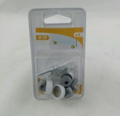 Patte à Glace Ø18mm Ep 6mm