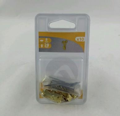 Crochet à tableau ,H28xL7,2xP8mm