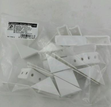 Équerre taquet avec cache-vis, L40xH40xP23mm