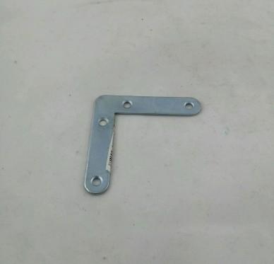 Equerre de cadre à bouts ronds, L050xH050xP10xEp1,2mm, acier zingué