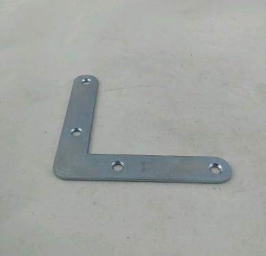 Equerre de cadre à bouts ronds, L100xH100xP20xEp2mm, acier zingué