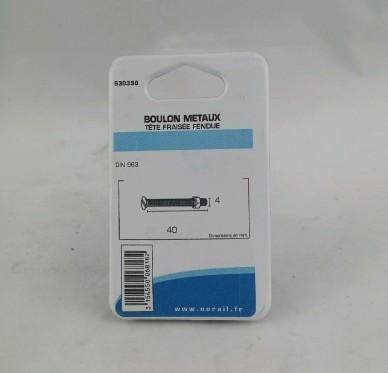 Boulon metaux L40xDi4mm