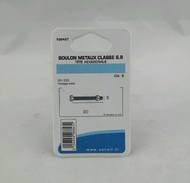 Boulon metaux L20xDi5mm