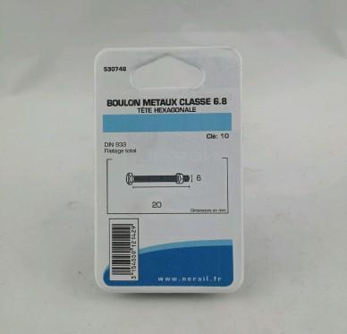 Boulon metaux L20xDi6mm