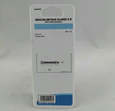 Boulon metaux L80xDi10mm