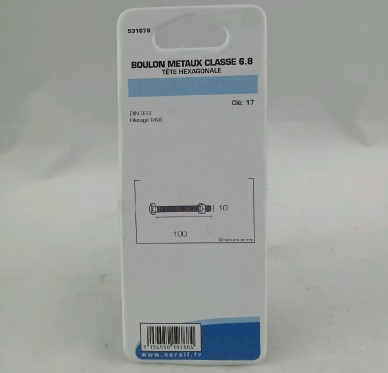 Boulon metaux L100xDi10mm