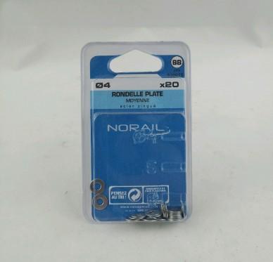 Rondelle plate moyenne Ep0.8xDi4xDe10mm