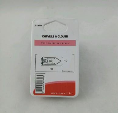 Cheville a clouer L30xDi10mm