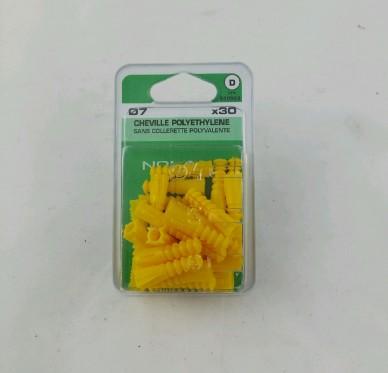 Cheville polyethylene L30xDi7mm
