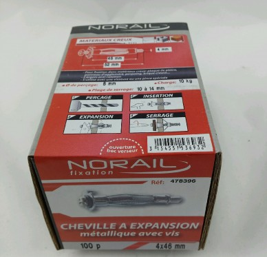 Cheville a expansion L46xDi4mm