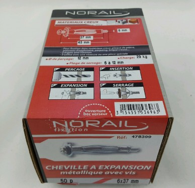 Cheville a expansion L37xDi6mm
