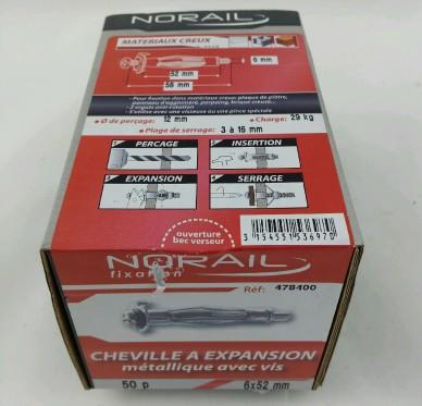 Cheville a expansion L52xDi6mm