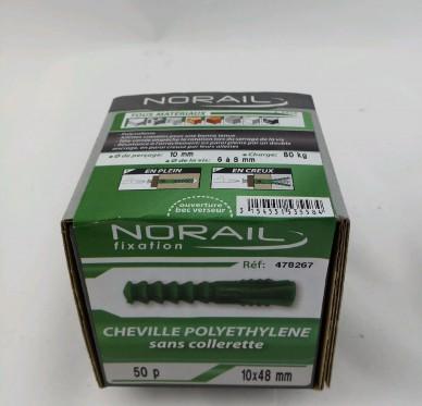 Cheville sans collerette L48xDi10mm