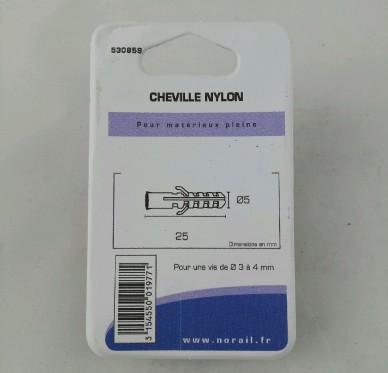 Cheville nylon L25xDi5mm
