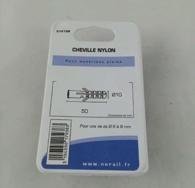 Cheville nylon L50xDi10mm