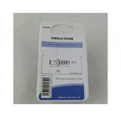 Cheville nylon L60xDi12mm