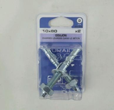 Goujon d ancrage L80xDi10mm
