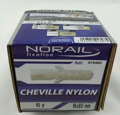 Cheville nylon L80xDi16mm