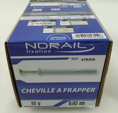 Cheville a frapper L60xDi8mm